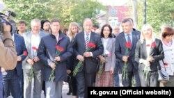 Представники «української діаспори» в Сімферополі, 14 жовтня 2019 року