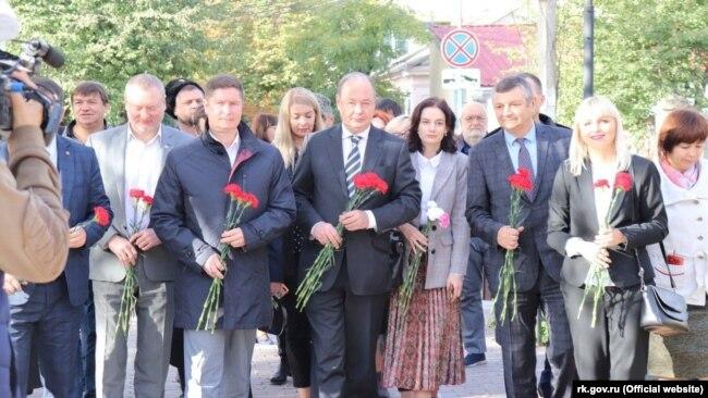 Представители «украинской диаспоры» в Симферополе 14 октября 2019 года