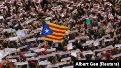Предыдущая демонстрация с требованиями «освобождения политзаключенных», Барселона, 8 ноября 2017 год