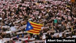 Sa danas održanih protesta indipendista u Barseloni 8. novembar 2017