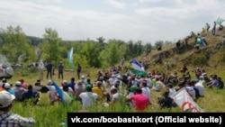 Башкирские активисты на Куштау