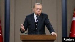 Президент Турции Реджеп Тайып Эрдоган. Архивное фото.