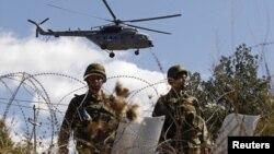 Војници на КФОР на преминот Јариње