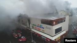 """Пожар в торговом центре """"Зимняя вишня"""" в Кемерове"""