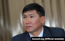 Kyrgyz Minister of Labor and Social Development Ulukbek Kochkorov (file photo)