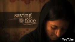 "A screen grab from the promotional trailer for the documentary ""Saving Face,"" by Pakistani director Sharmeen Obaid Chinoy and American director Daniel Junge."