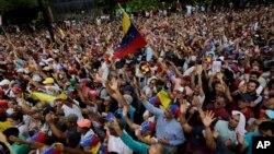 Pamja nga protestat e mbajtura ditë më parë në Venezuelë.