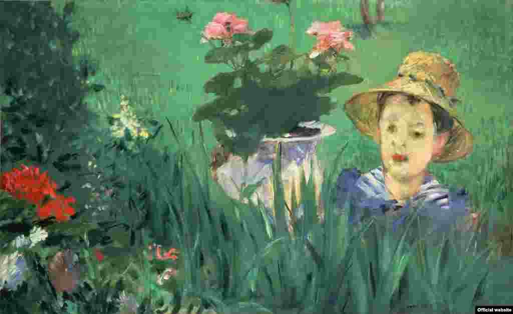 Eduard Manet, Băiat între flori (1876). Muzeul Național de Artă Occidentală, Tokyo.