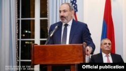 Armenian Prime Minister Nikol Pashinian in New York on September 23