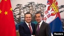 Ministar spoljnih poslova Srbije Ivica Dačić i ministar spoljnih poslova Kine Vang Ji, Peking, 26. februar 2020.
