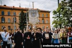Один из молебнов в центре Минска