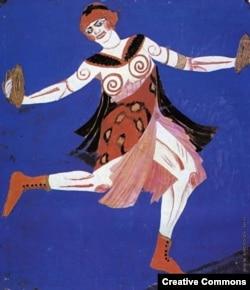"Александра Экстер. Эскиз костюма к спектаклю ""Фамира Кифаред"""