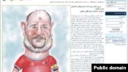 Cartoonist Mahmoud Shokrayi had been sentenced to 25 lashes for depicting parliamentary deputy Ahmad Lotfi Ashtiani as a soccer player.