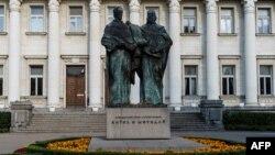 Паметникът на Св. Св. Кирил и Методий в София.