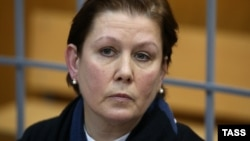 Natalya Sharina in a Moscow courtroom (file photo)