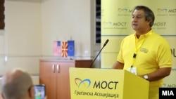 Архивска фотографија - Прес конференција на претседателот на МОСТ, Дарко Алексов