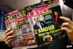 Обложка январского номера журнала Closer с фоторепортажем о любовной связи Франсуа Олланда