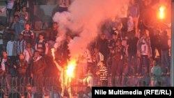 Pe stadionul de la Cairo la 9 februarie 2015...