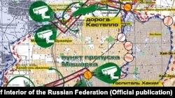 Սիրիա - Քարտեզի վրա նշված են Հալեպից խաղաղ բնակչության դուրս գալու համար ռուսական և սիրիական կառավարական ուժերի բացած մարդասիրական միջանցքները
