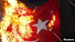 Թուրքական դրոշի այրումը, 23.04.2010