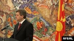 Претседателот Ѓорѓе Иванов се обраќа пред преставниците на дипломатскиот кор во Македонија