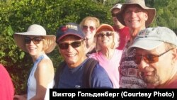 Виктор Гольденберг (80 лет) занимается хайкингом во Флориде. 2016 г.