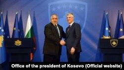Bojko Borisov i Hašim Tači, Priština