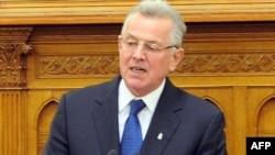 Венгрия президенті Пал Шмитт парламентте сөйлеп тұр. Будапешт, 2 сәуір 2012 жыл.