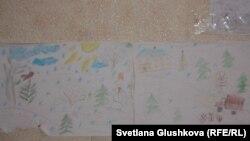 Детские рисунки детей Мейрамовых.