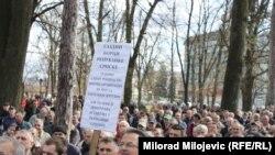 Banja Luka: Protest demobilisanih boraca i građana