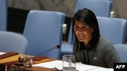 Ніккі Гейлі на засіданні Ради безпеки ООН 12 квітня 2017 року