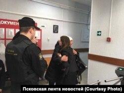 Лия Милушкина и Татьяна Мартынова в суде