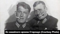 Василий Старощук и Георгий Сур. 1942 год