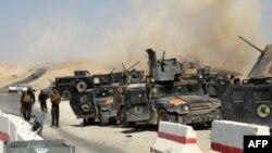 Forcat e sigurisë së Irakut të grumbulluara në provincën Anbar