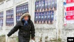 Передвиборча агітація у центрі Кишинева, 26 жовтня 2016 року