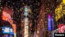 Наступление Нового года в Нью-Йорке, 1 января 2021 года