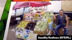 Orxan Zeynalov bazarda