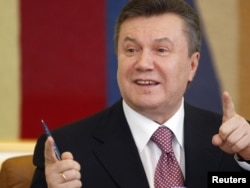 Ukrainian President Viktor Yanukovych in Kyiv in April 2010