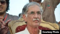 Pakistan -- Parviz Khattak, chief minister of Khyber Pokhtunkhua province, Peshawar, undated.