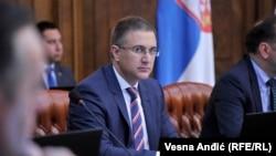 Nebojša Stefanović je izbegao da odgovori na pitanje da li je Jovanovićevo pismo doživeo kao pritisak