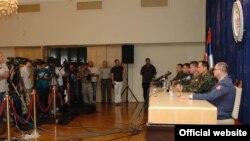 """Konferencija za novinare povodom nesreće na poligonu """"Pasuljanske livade"""""""