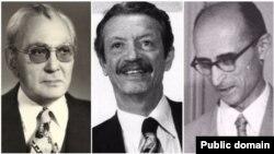 غلامحسین صدیقی (راست)، شاپور بختیار (وسط) و کریم سنجابی، گزینههای اصلی شاه برای انتخاب نخستوزیر در آبان و آذر ۵۷