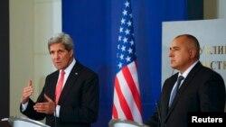 John Kerry și Boiko Borisov, Sofia, 15 ianuarie 2015.