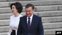 Президент Узбекистана Шавкат Мирзиеев с супругой.