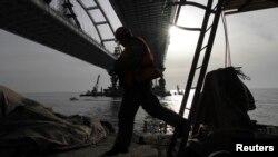 Строительство Керченского моста, декабрь 2017 года