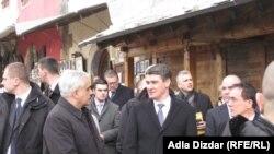 Premijer Zoran Milanović u Mostaru, 28. februar 2012.
