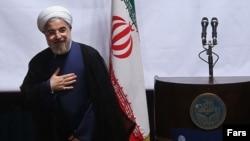 Иран президенті Хассан Роухани. Тегеран, 14 қазан 2013 жыл.