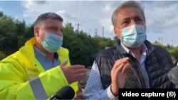 Primarul PSD din Lupeni, Lucian Resmeriță și ministrul de Interne Marcel Vela