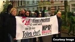 Imagine de la o demonstrație NPD (Foto TV/ARD)