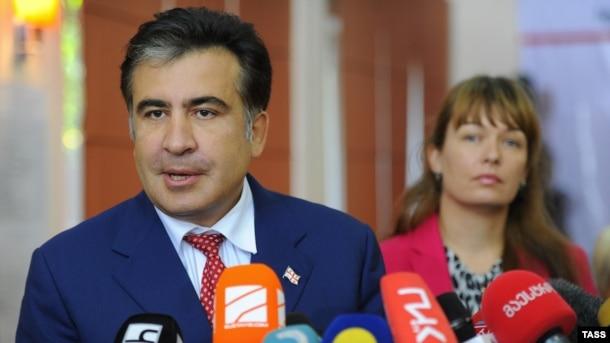 Михаил Саакашвили и Сандра Руловс. Тбилиси, октябрь 2012 года